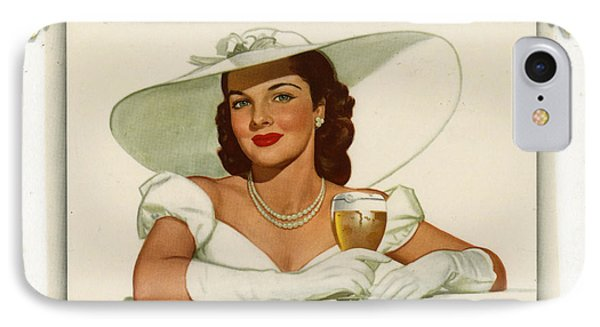 Vintage Ballintine Beer Ad IPhone Case