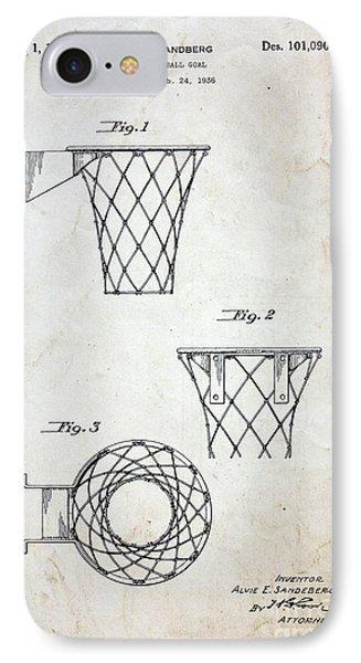 Vintage Basketball Hoop Patent IPhone Case