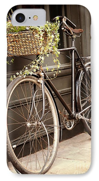 Bicycle iPhone 8 Case - Vintage Bicycle by Jane Rix