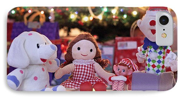 Elf iPhone 8 Case - Vintage Christmas Elf Island Of Misfit Toys by Barbara West