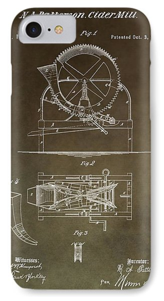 Vintage Cider Mill Patent IPhone Case