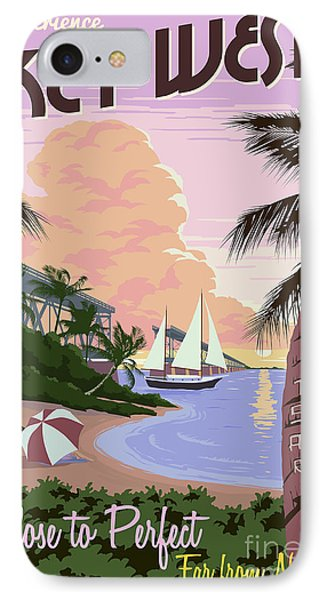 Vintage Key West Travel Poster IPhone Case
