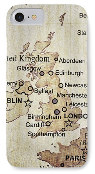 Vintage Map Of England IPhone Case
