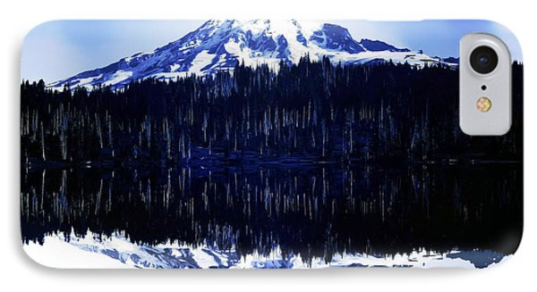 Vintage Mount Rainier From Reflection Lake Early 1900 Era... IPhone Case