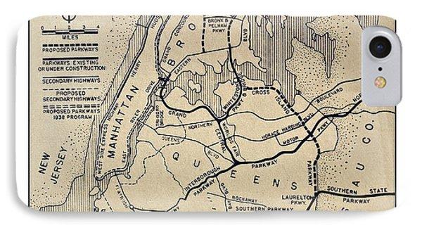 Vintage Newspaper Map IPhone Case