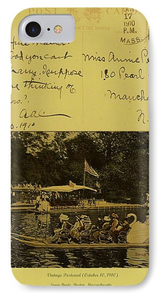 Vintage Postcard  October 10 1910 IPhone Case