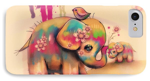 Vintage Tie Dye Elephants IPhone Case