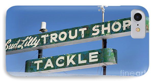 Vintage Trout Shop Sign West Yellowstone IPhone Case