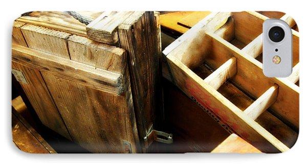 Vintage Wooden Boxes IPhone Case