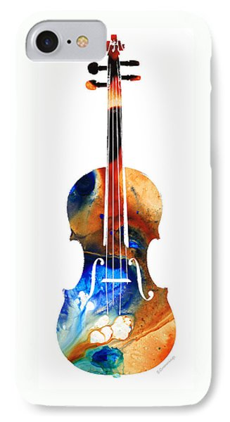 Music iPhone 8 Case - Violin Art By Sharon Cummings by Sharon Cummings