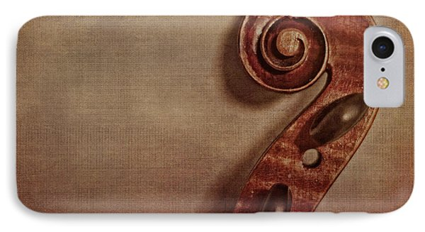 Violin iPhone 8 Case - Violin Scroll by Emily Kay