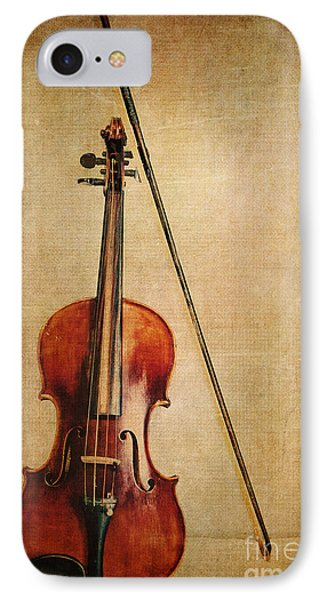 Violin iPhone 8 Case - Violin With Bow by Emily Kay