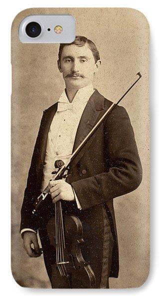 Violin iPhone 8 Case - Violinist, C1900 by Granger