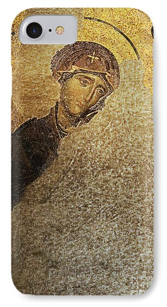 Virgin Mary-detail Of Deesis Mosaic  Hagia Sophia-day Of Judgement IPhone Case