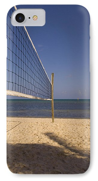 Vollyball Net On The Beach IPhone Case