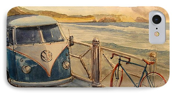 Bicycle iPhone 8 Case - Vw Westfalia Surfer by Juan  Bosco