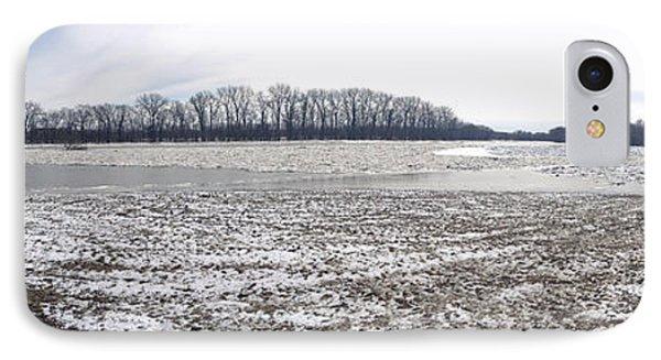 Wabash River Ice Jam Panorama IPhone Case