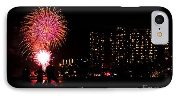 Waikiki Fireworks IPhone Case