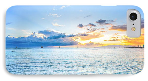 Waikiki Sunset After An Afternoon Thunderstorm IPhone Case