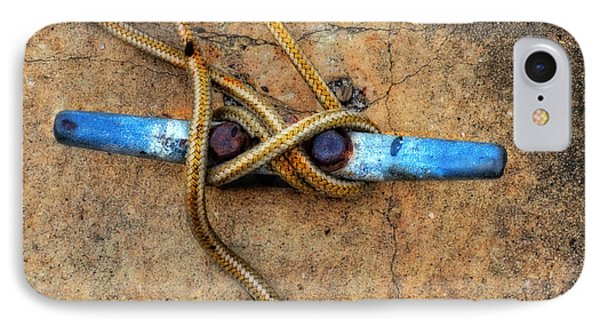 Boat iPhone 8 Case - Waiting - Boat Tie Cleat By Sharon Cummings by Sharon Cummings