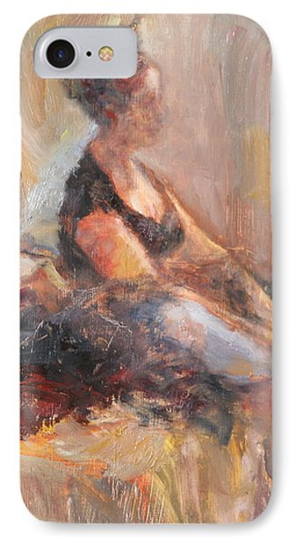 Waiting For Her Moment - Impressionist Oil Painting IPhone Case