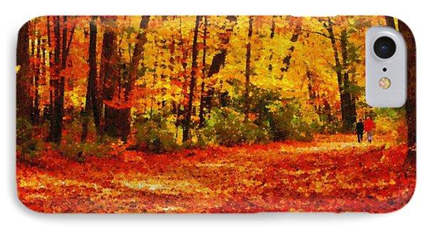 Walk In An Autumn Park IPhone Case