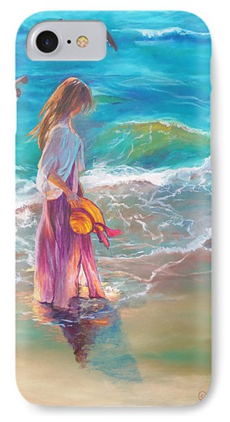 Walking In The Waves IPhone Case