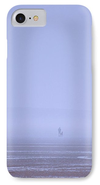Walking The Dog In The Mist IPhone Case