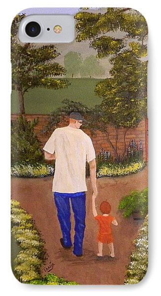 Walking With Papa IPhone Case