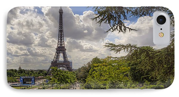 Walkway To The Eiffel Tower IPhone Case
