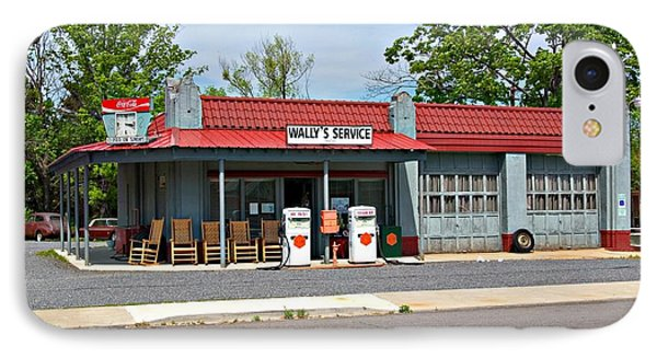 Wallys Service Station Mt. Airy Nc IPhone Case