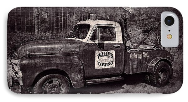 Wally's Towing Bw IPhone Case