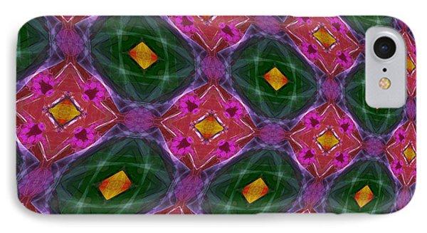 Warped Kaleidoscopic Lattice IPhone Case