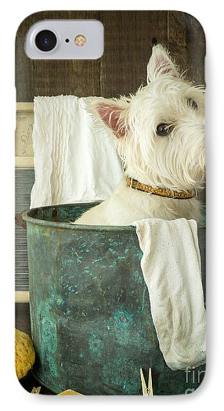 Puppies iPhone 8 Case - Wash Day by Edward Fielding