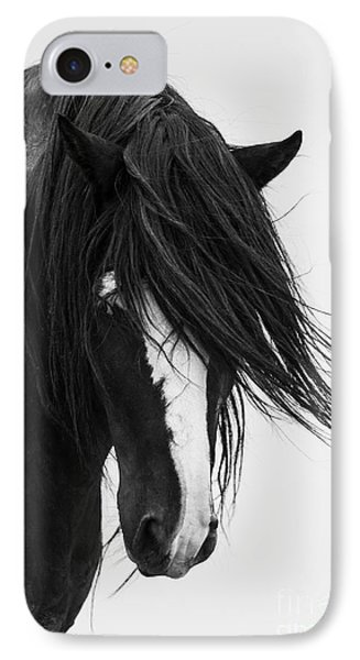 Horse iPhone 8 Case - Washakie's Portrait by Carol Walker