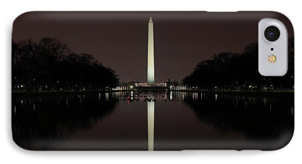 Washington Monument Reflections At Night IPhone Case