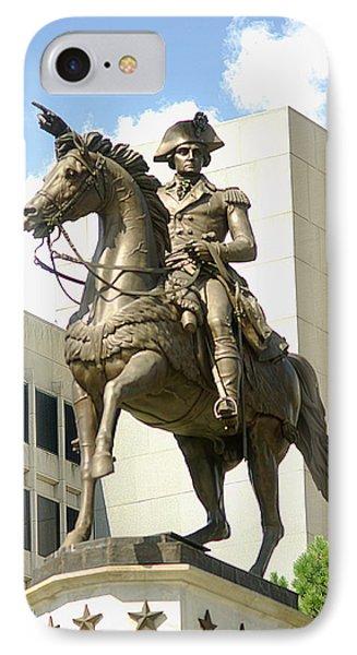 Washington On His Horse IPhone Case