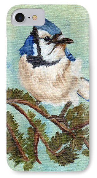 Watchful Blue Jay IPhone Case