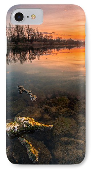 Watching Sunset IPhone Case