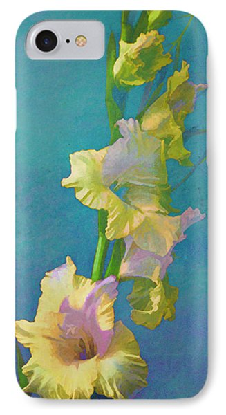 Watercolor Study Of My Garden Gladiolas IPhone Case