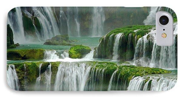 Waterfall In Green IPhone Case