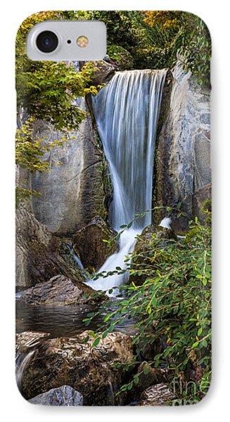 Waterfall In Japanese Garden IPhone Case