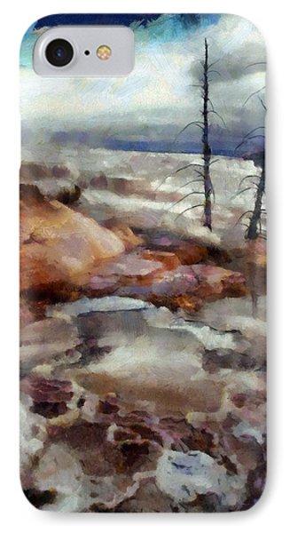Waterfalls At Yellowstone IPhone Case