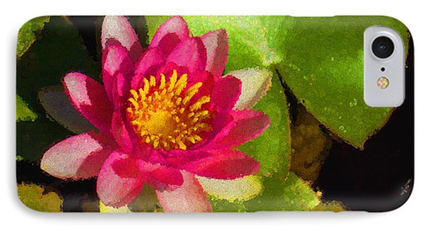 Waterlily Impression In Fuchsia And Pink IPhone Case