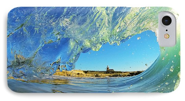 Wave And Lighthouse 1 IPhone Case