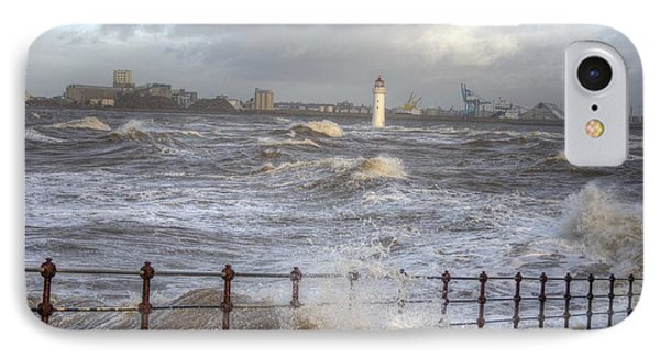 Waves On The Slipway IPhone Case