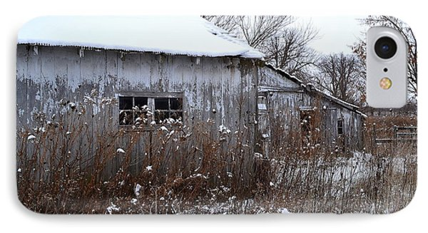 Weathered Barns In Winter IPhone Case