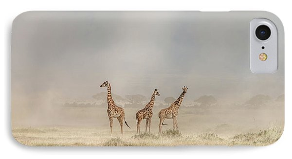 Weathering The Amboseli Dust Devils IPhone Case