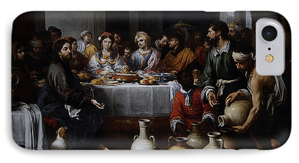IPhone Case featuring the digital art Wedding At Cana by Esteban Murillo