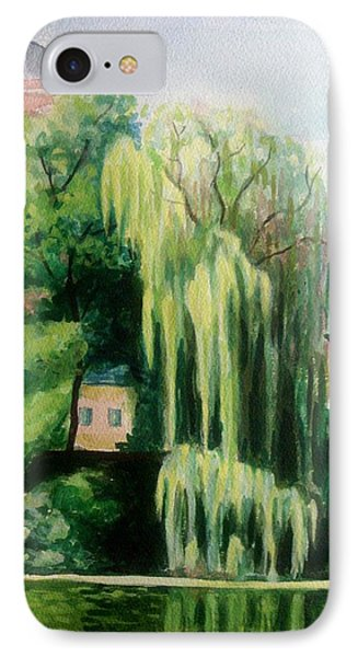 Weeping Willow At North Pond IPhone Case